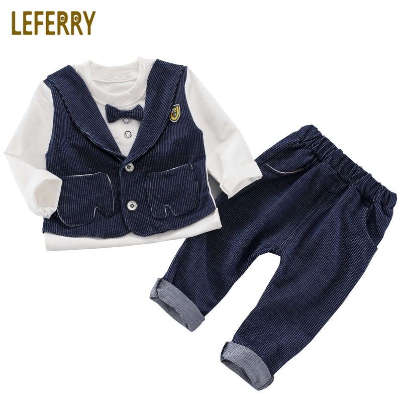 2018 New Autumn Kids Clothes Boys Sets 2pcs Vest Sytle T-shirts + Trousers Toddler Boys Clothing Baby Clothes Children Clothing ad children s mickey thick sets 2 10 age cotton sweater pants boys girls christmas t shirts trousers kids clothing clothes