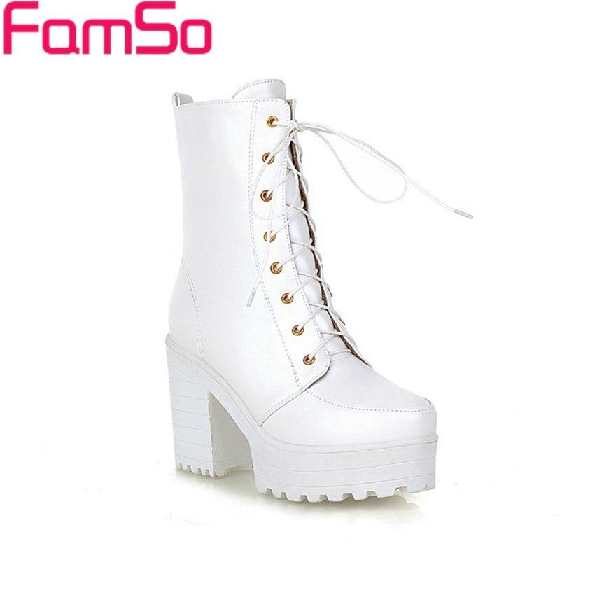 Plus Size34 43 2016 new Sexy font b Women b font Boots black White Autumn Riding