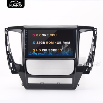 9 MIRROK Link touch screen 8 core Android8.0 4GB+32GB Car DVD player GPS navigation for Mitsubishi Pajero sport 2016 2017 image
