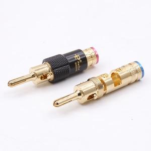 Image 3 - 4 stks/partij Nieuwe Messing Slot Speaker Versterker Connector Palic RCA Luidsprekerkabel Banana Plug