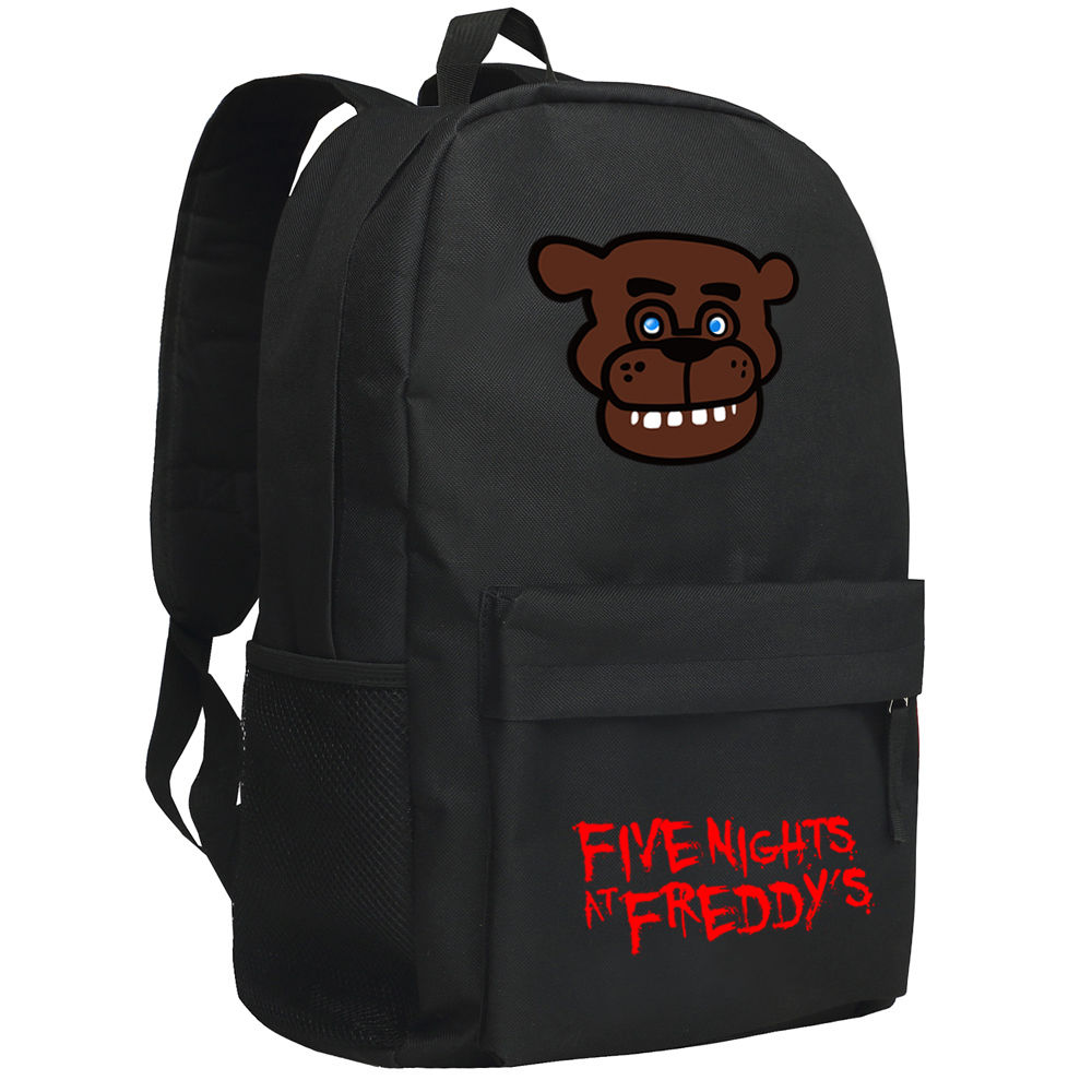 FNAF Five Nights At Freddy's Freddy Fazbear Chica Backpack Book Shoulder Bag