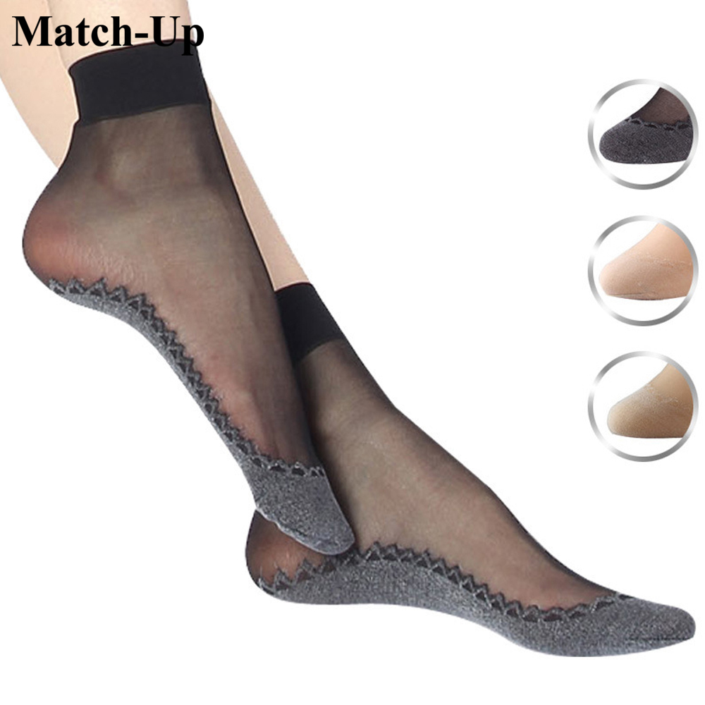 Autumn and winter velvet cotton yarn Tim bottom trace invisible short paragraph wholesale socks(5pairs/lot)