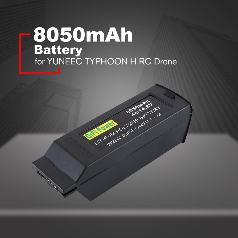 8050mAh Large Capacity Battery 14.8V 4S Upgraded Replacement Lipo Battery Drone Battery For Yuneec Typhoon H H4808050mAh Large Capacity Battery 14.8V 4S Upgraded Replacement Lipo Battery Drone Battery For Yuneec Typhoon H H480