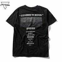 Eden Aelfric GRUNGE ROCK Drukowania Czarny T-shirt Mężczyźni Hi Moda Uliczna Retro Tshirt Człowiek Loose Casual Koszulki z krótkim rękawem Hot Sprzedaż Topy Tee