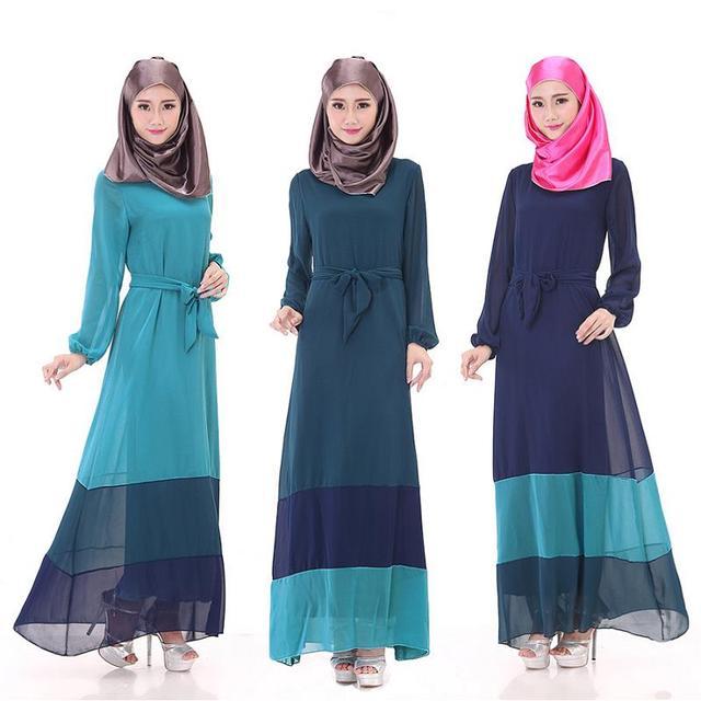 2016 de Descuento Prom Vestidos de Noche de Manga Larga Abaya Musulmán Islámico Dubai Formal Vestido Hijab Personalizado Tobillo Longitud Tren robe de soiree