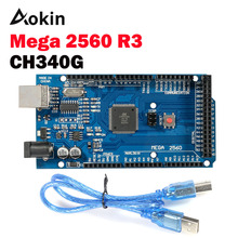 Mega 2560 R3 Mega2560 REV3 MEGA2560 R3 ATmega2560-16AU CH340 CH340G Board With USB Cable Compatible For Arduino 2560