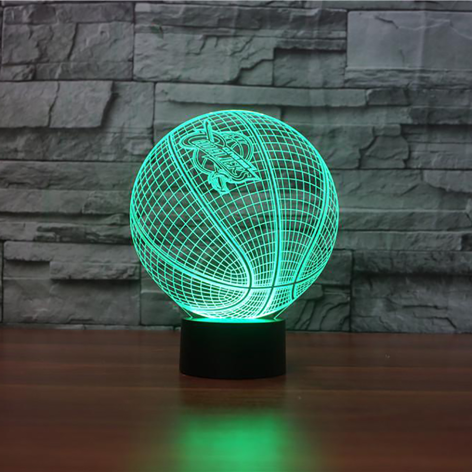 Basketball Modelling LED 3D Night Light Creative Ambient Fixture Desk Lamp Home Lighting Color Change Luminaria Kid Sports Gifts