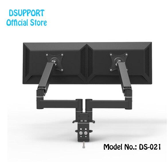 "2018 Neue 360 Grad Frühjahr Arm Desktop 17 ""-27"" Dual Monitor Halter Arm Full-motion Dual Monitor Unterstützung Laden 5,5 Kg GroßEr Ausverkauf"