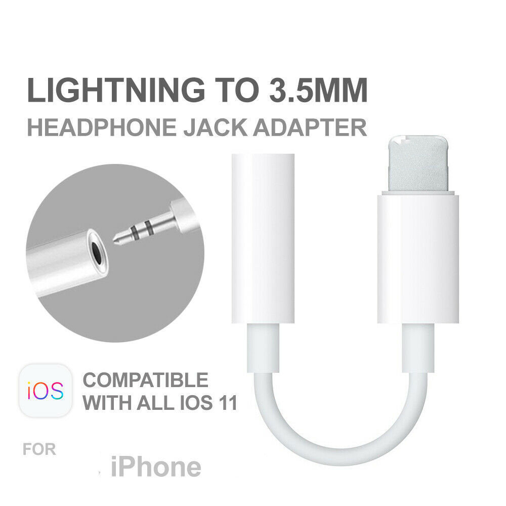 IMIDO Universal 3.5mm Jack AUX Headphone Earphone Audio Jack Adapter Cable For IPhone 8 Plus X XS Max XR Adapter For Lightning