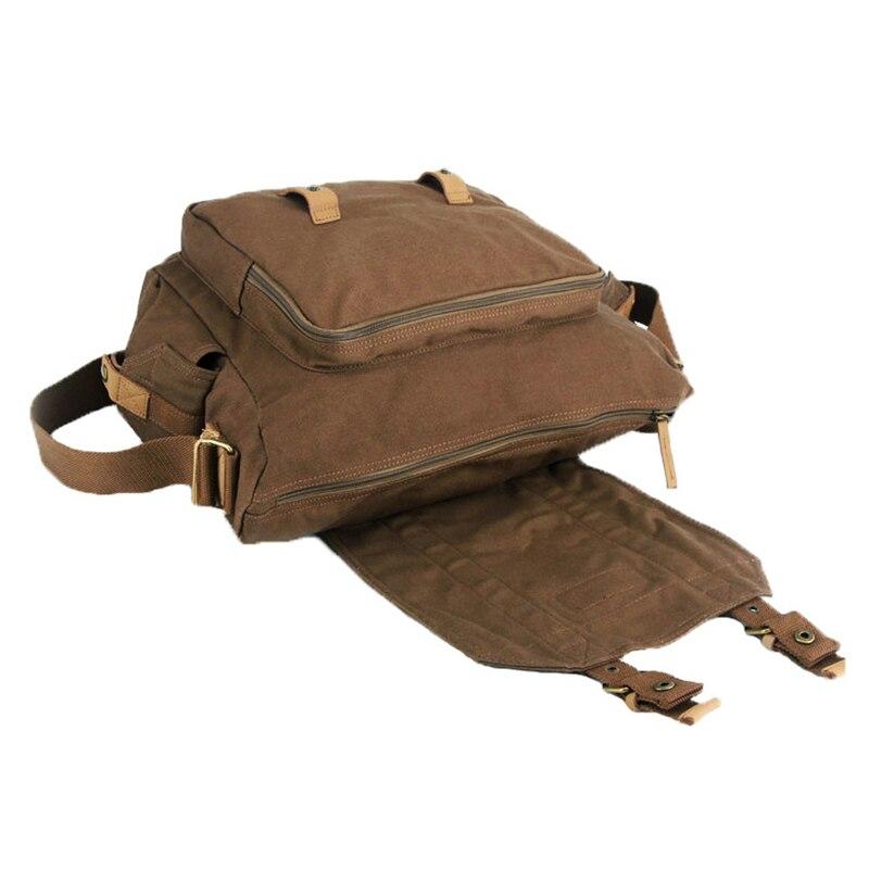 Waterproof L1 Canvas Vintage DSLR SLR Camera Shoulder Messenger Case Bag