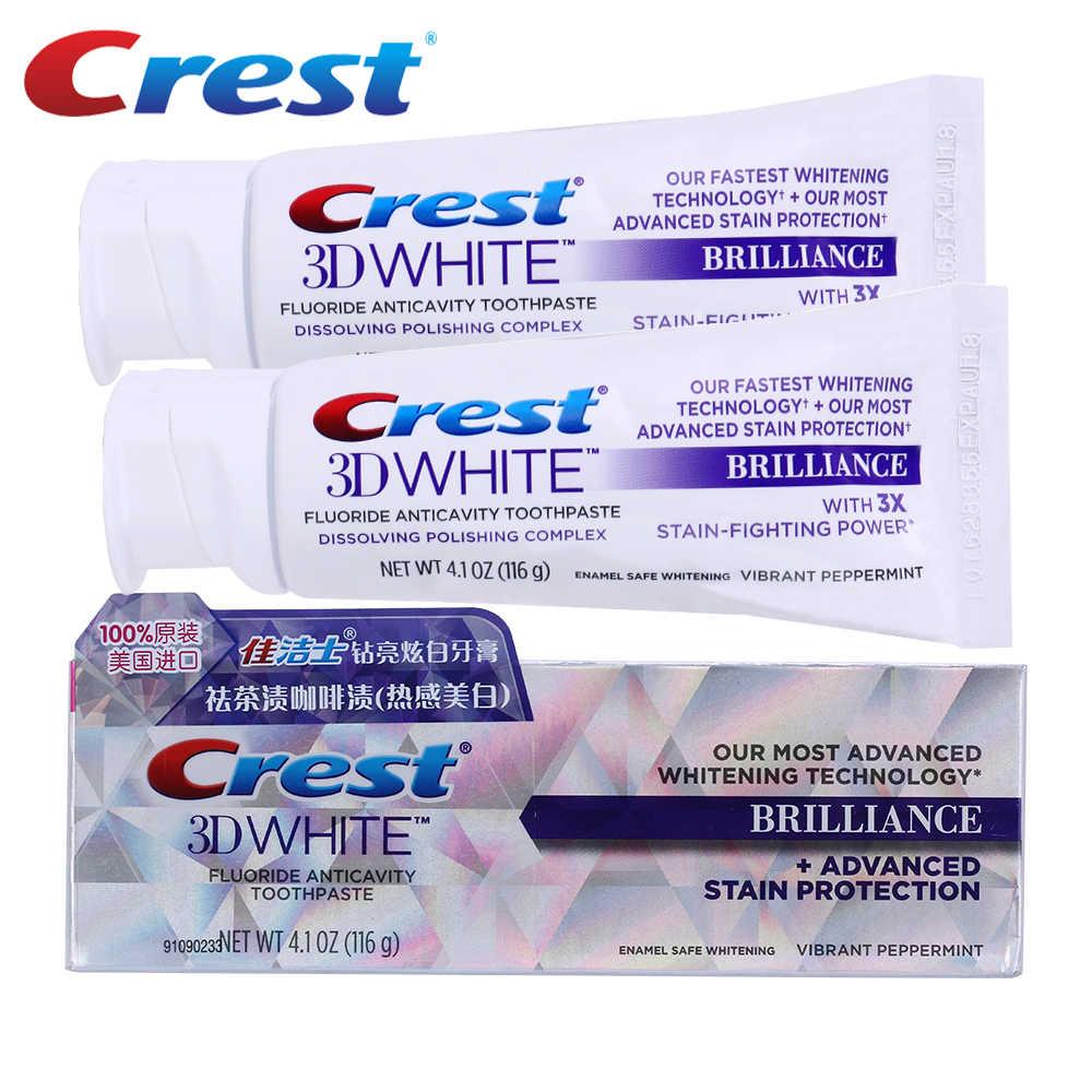Crest 3D White Brilliance pasty do zębów 3D biała pasta do zębów wybielanie zębów blask zaawansowane fluorek Anticavity pasty do zębów