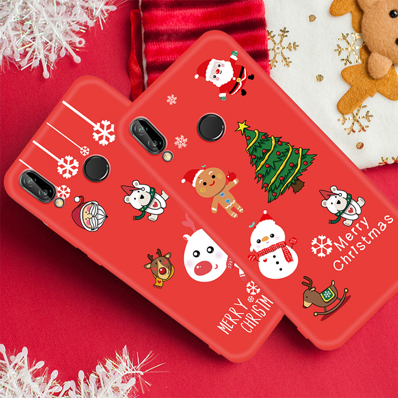 Case For Huawei P20 Lite Pro Mate 20 P10 Lite Nova 3 3E 3I 2I P Smart Plus Christmas Santa Claus Elk For Honor 9I