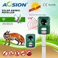 Jardim Solar Eletrônico com piscando ultra-sônica repeller animais Cães Gatos Raposa Veados Morcegos Aves Repeller Repelente Impedimento