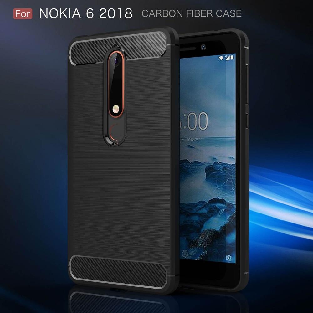 For Nokia 7 Plus Case For Nokia 6 Case Carbon Fiber Cover For Nokia 2 3 5 6 7 8 Case Coque For Nokia6 Nokia5 Nokia8 Etui Funda nokia 8 new 2018