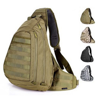 f4875d7852 Waterproof nylon sling single shoulder single strap gear tactical chest  pack outdoor sport man big travel bag free shipping