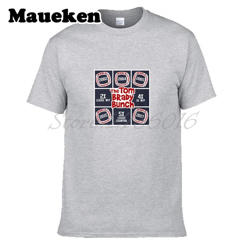 a2162e597 Men Tom Brady Bunch 5 Time Patriots Super Bowl Champion MVP LI Men T-shirt  Clothes New England T SHIRT Men s W0207001
