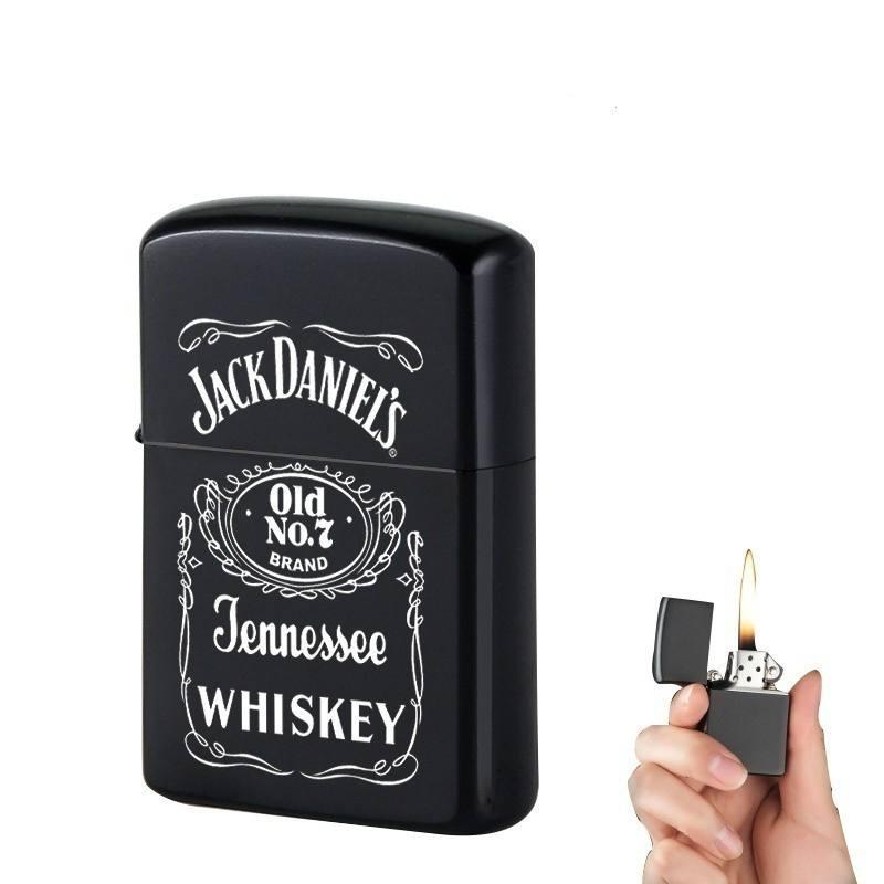 Windproof Refillable Cigarette Lighter Mini Pocket Lighter Kerosene Oil Lighter Gasoline Retro Men Gadgets Lighters