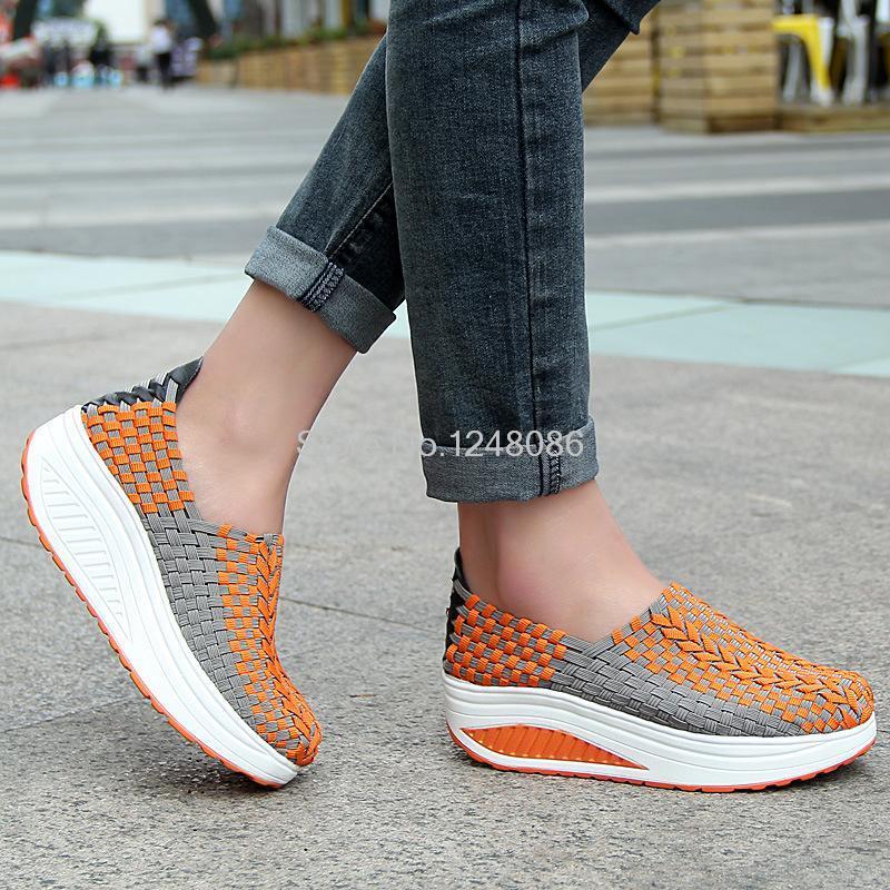 Tejida Transpirables Zapatos Mujer Moda Swing Mano 2017 De Like Casual as Pesado Like B823 Plataforma As Fondo Picture wgqx8nwfI
