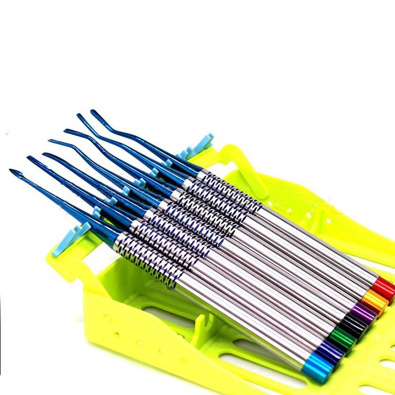 Outil dentaire acier inoxydable dentiste dents hygiène propre pics détartreur soins buccaux luxation racine ascenseur avec outil d'instruments de cas