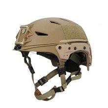 Casco táctico militar para Paintball, protección para Paintball, TB FMA, EXFLL Lite, color negro, envío gratis