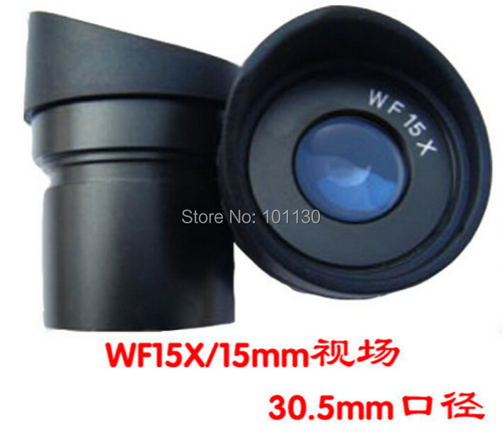 Une paire WF15X 15mm vue large champ Angle microscope oculaire lentille avec taille de montage 30.5mm lentille optique pour Microscope stéréo