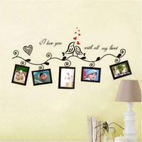 Eco-friendly Acrylic Double Bird Photo Frame Wall Sticker Decal Room Modern Decoration For Home Bedroom Kids Gift P25