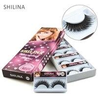 SHILINA 10 Pairs False Eyelashes Natural Long High Quality Hand Made False Eyelashes Thick False Lashes