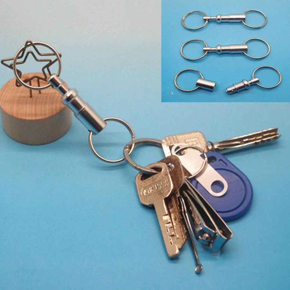 OPPOHERE 1 PC Conveniente Destacável Removível Separar Quick Release Chaveiro Chaveiro Para Mulheres Dos Homens de Metal Acessórios do keychain