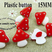 100 шт 15 мм грибные кнопки формы красные Окрашенные Пластиковые кнопки пальто сапоги швейная одежда аксессуары P-046-4