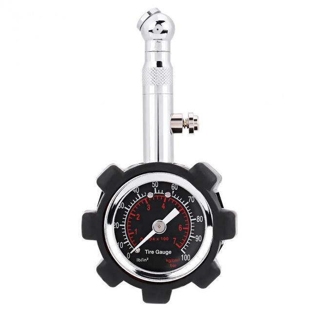 Medidor Manual de presión de neumáticos de mano 0-100PSI manómetro neumático medidor de presión de aire para coche camión bicicleta herramienta de medición de presión