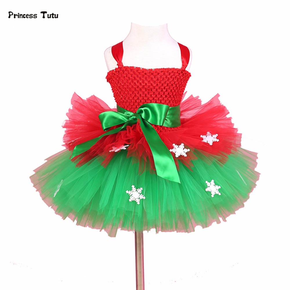 Children Baby Kids Girl Christmas Party Dress Snowflake Tulle Tutu Dress Flowers Princess Costume Festival New Year Girl Dresses girls christmas xmas dresses kids girls princess party carnival tutu dress baby girl red new year fancy party dress up outfits