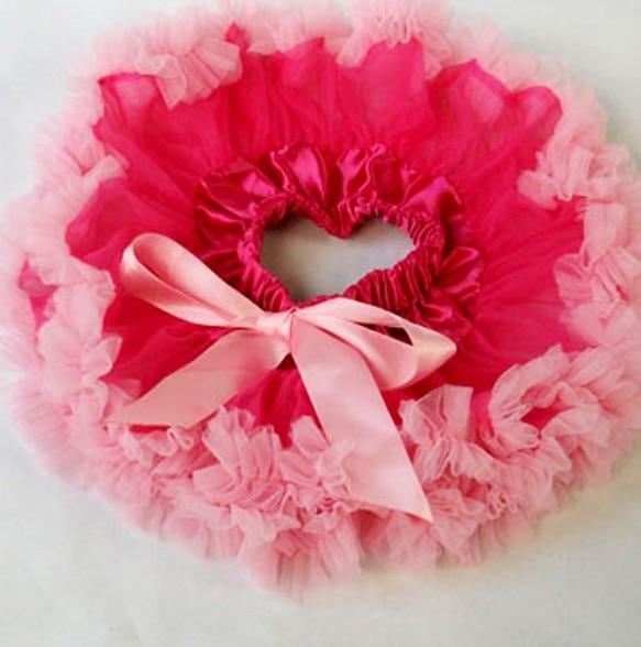 Настроить юбка-пачка новорожденных юбка-пачка ярко-розовый цвет и фиолетовый Pettiskirts Детские юбка-пачка - Цвет: Розовый