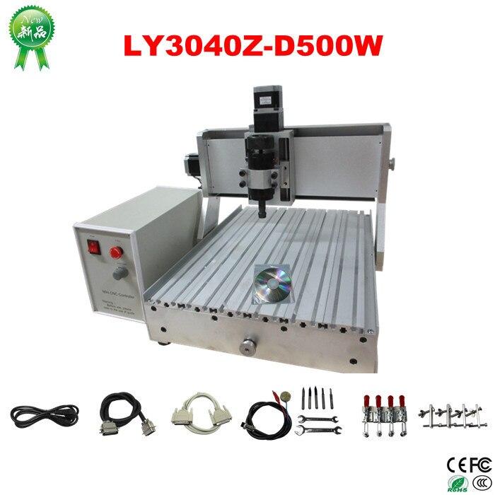 500w spindle cnc machinery 3040 cnc engraving machine, russia free tax