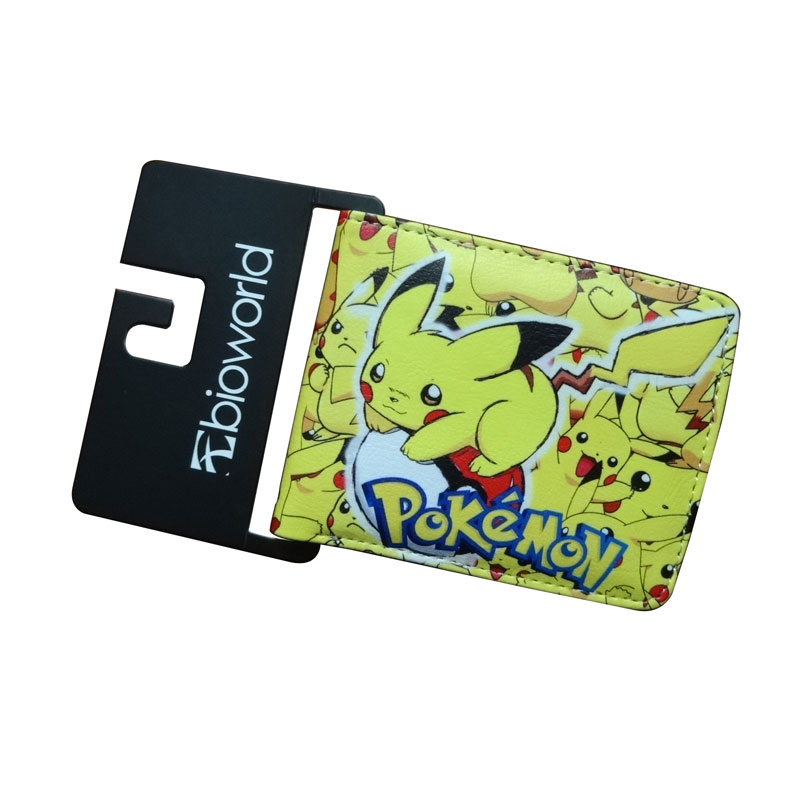 Poket Monster Pokemon Wallets Kids Pikachu Poke Ball Games Purse Student Dollar Price Bags Card Holder Leather Short Wallet