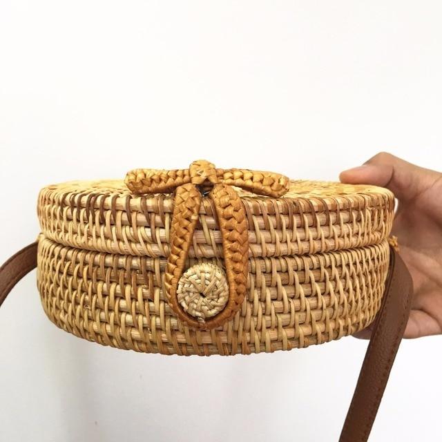 Bali Rattan Bags For Women 2018 Summer Beach Shoulder Bag Handmade