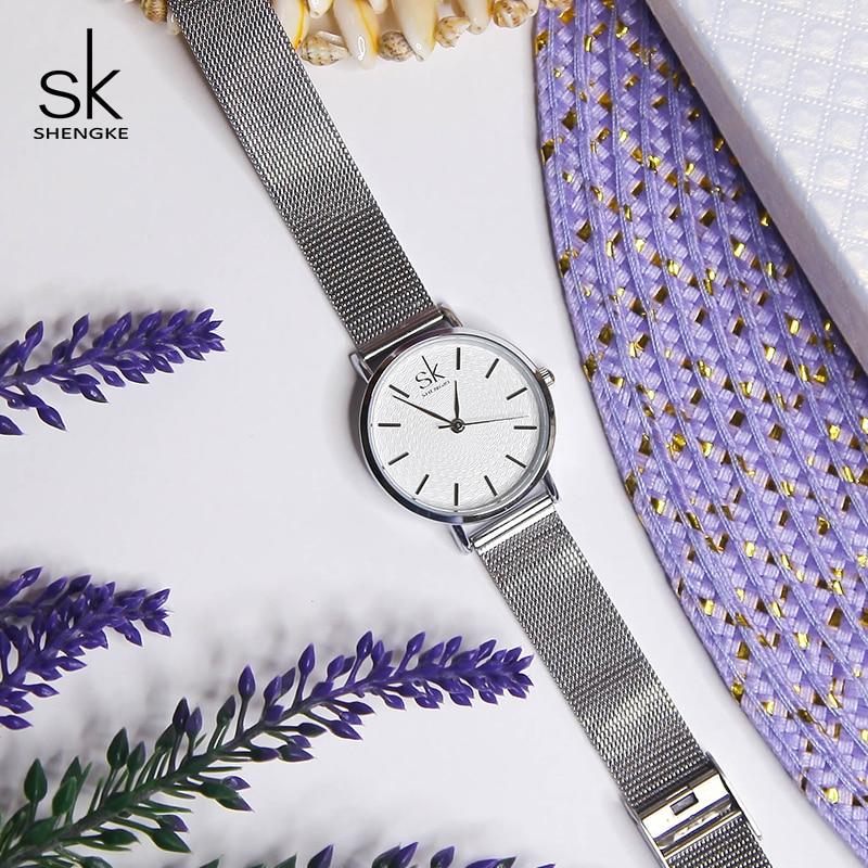 Shengke órák Női ezüst luxus rozsdamentes acél órák Reloj - Női órák - Fénykép 3