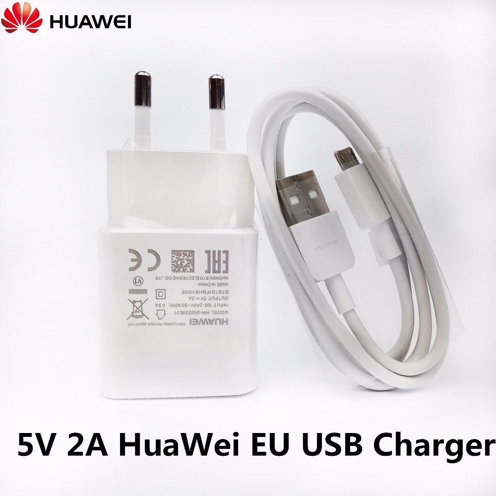 Original huawei honor 7x Charger , 5V/2A EU Wall Charge Adapter & Geniune Micro Usb Cable For P9 P8 lite honor 6a y7 y6 y5 ii y3
