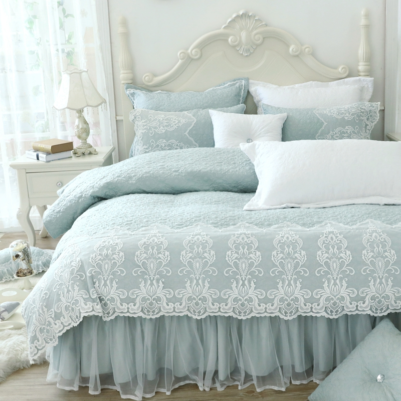 Aliexpress.com : Buy Quilted Cotton Thick Bedding Set Bed