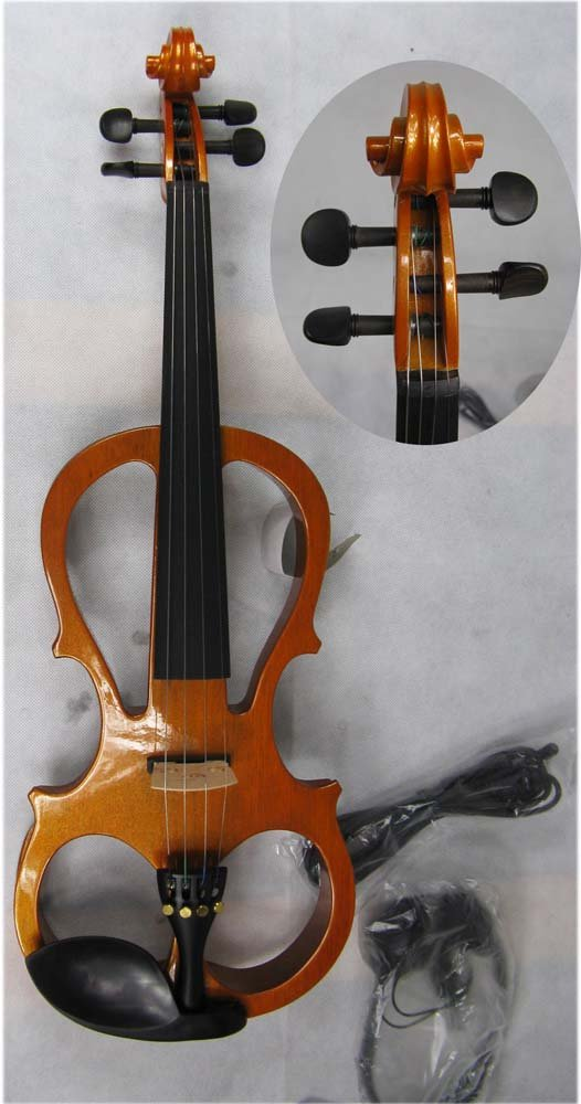 4/4 High quality  Electric violin 4 4 high quality 5 string electric violin yellow 2 pickup violin
