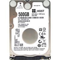 HGST Travelstar Z5K500 HTS545050A7E380 500GB 5400 RPM 8MB Cache SATA 3 0Gb S 2 5 Internal
