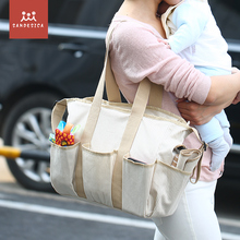 [CHOOEC] Super large capacity Mommy package single shoulder big baby trip bag waterproof canvas gift diaper pad bags