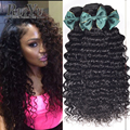 Brazilian Virgin Hair Deep Wave Brazilian Hair 4 Bundles Deep Curly Weave Human Hair Brazilian Deep Curly Virgin Hair