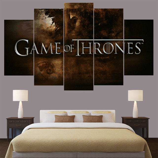 Home Decor Game of Thrones Hot Movie Logo Canvas Wall Art Frame ...