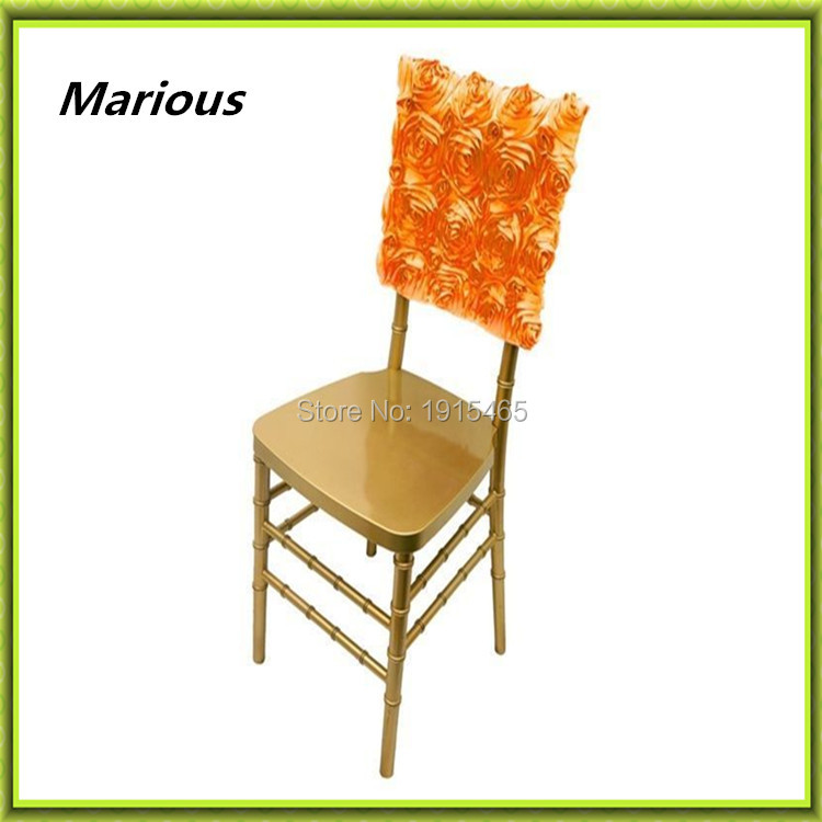 Marious Brand Free shipping rosette chair hood 36*42cm with good quality hood for wedding decoration
