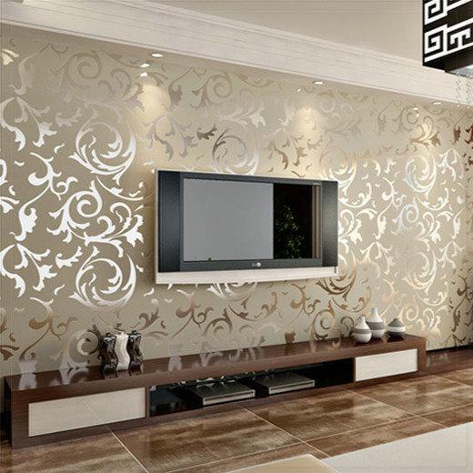 Damasco Floral papel de parede parede rolo europa cl ssico Tapete para sala quarto Home Decor - Living Wall Tapete