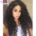 Nueva Llegada del pelo humano U parte pelucas para las mujeres negras 150 densidad Brasileña U parte pelucas Rizadas virginales del pelo con la parte Media
