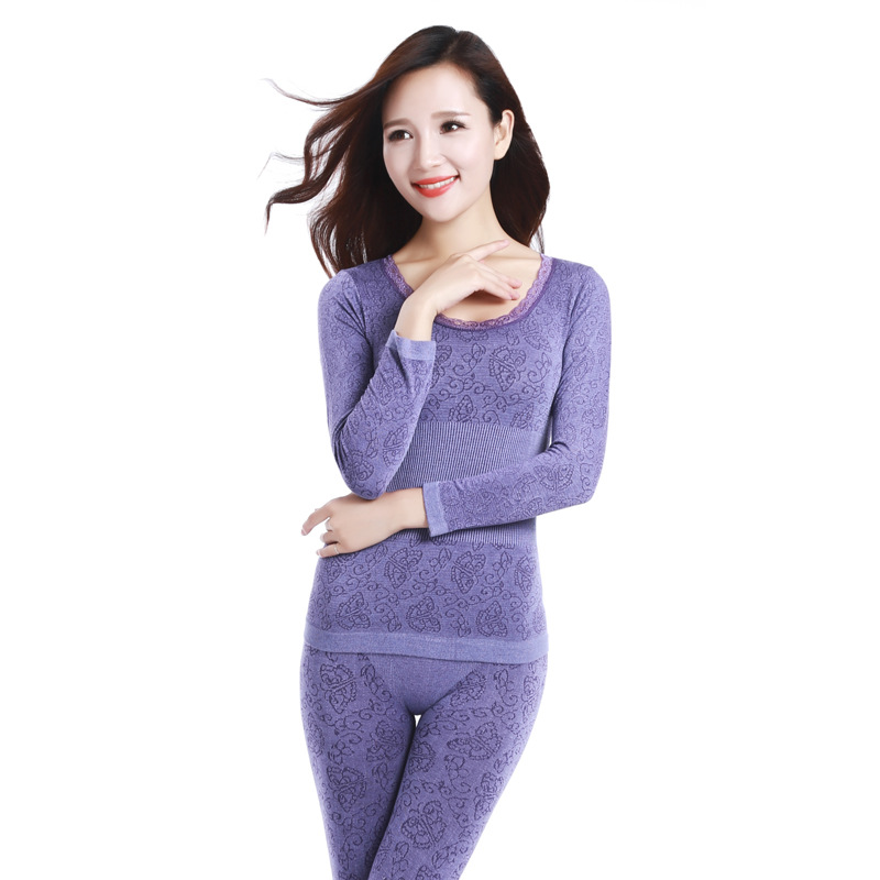 2020 Autumn And Winter Arrival Modal Home Sleepwear Girdle Body-fitting Seamless Bodywear Thermal Underwear Suit Free Shipping