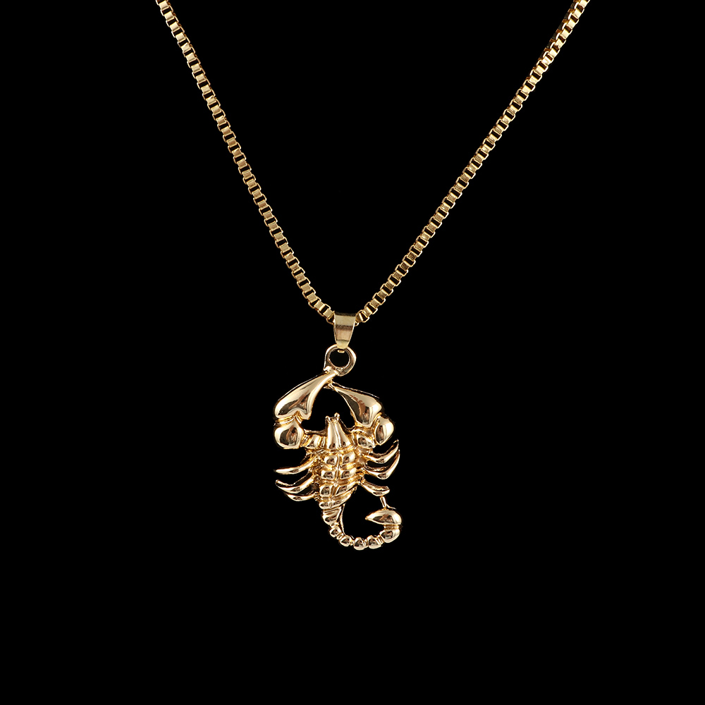 Scorpion Pendant Jewelry Gift Hip-Hop necklace Alloy Gold-Color Personality Unisex Fashion