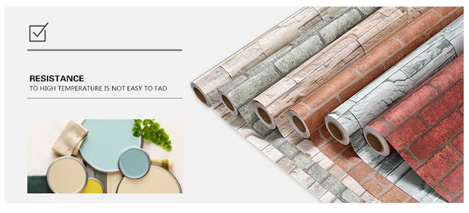 Vintage Brick Stone Peel and Stick Wallpaper for Living Room Restaurant Wall Decal PVC Vinyl Waterproof Home Decor Contact Paper HTB1HfZ7QmzqK1RjSZFjq6zlCFXaz