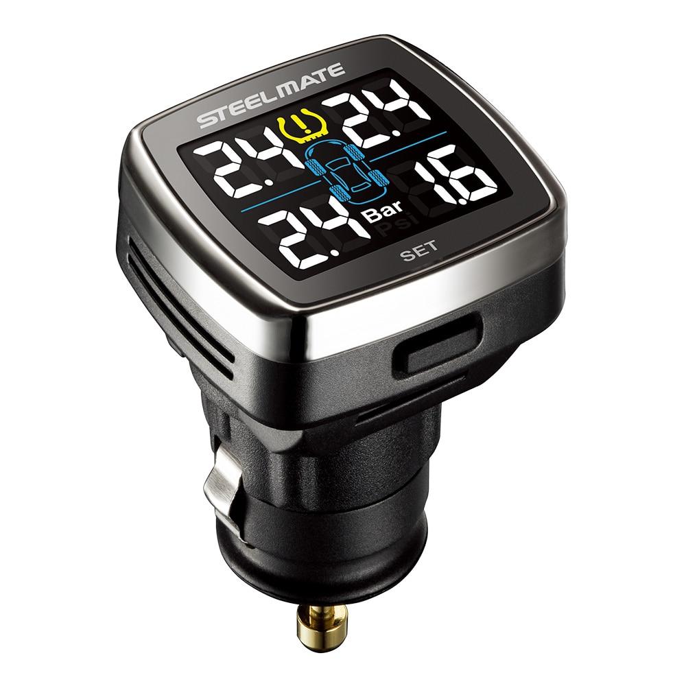 Steelmate TP 78 font b TPMS b font Tire Pressure Monitoring System LCD Display Cigarette Plug